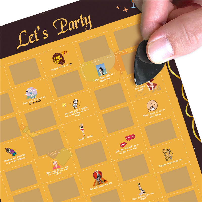 product-Dezheng-Custom 100 Things To Do Bucket List Scratch Off Poster, 50 Games Party Scratch Off P-1