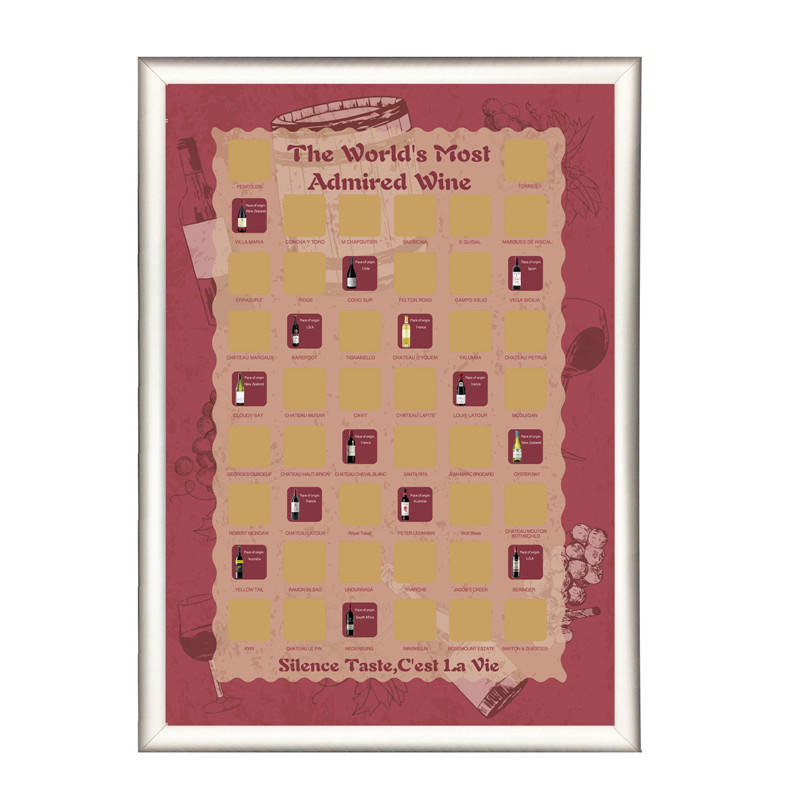 product-The WorldS Most Admired 50 Red Wine Bucket Scratch Off Poster-Dezheng-img-1