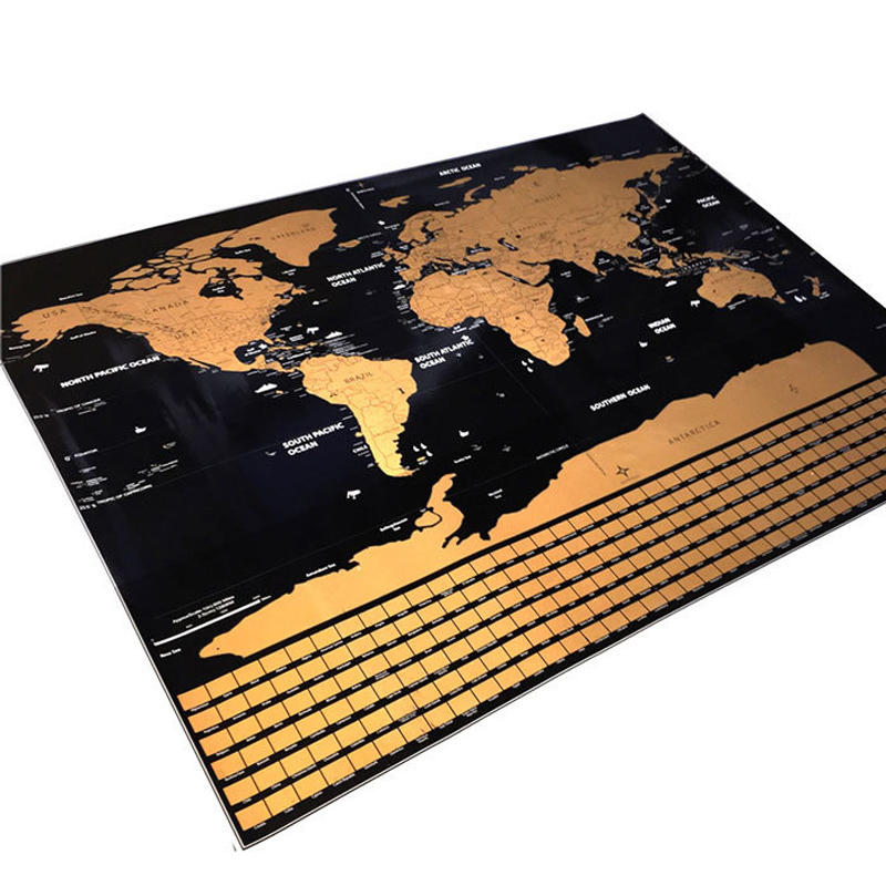 Amazon Scratch Off World Usa Map Craft Paper, Scratch Off Map Poster Set With Tools