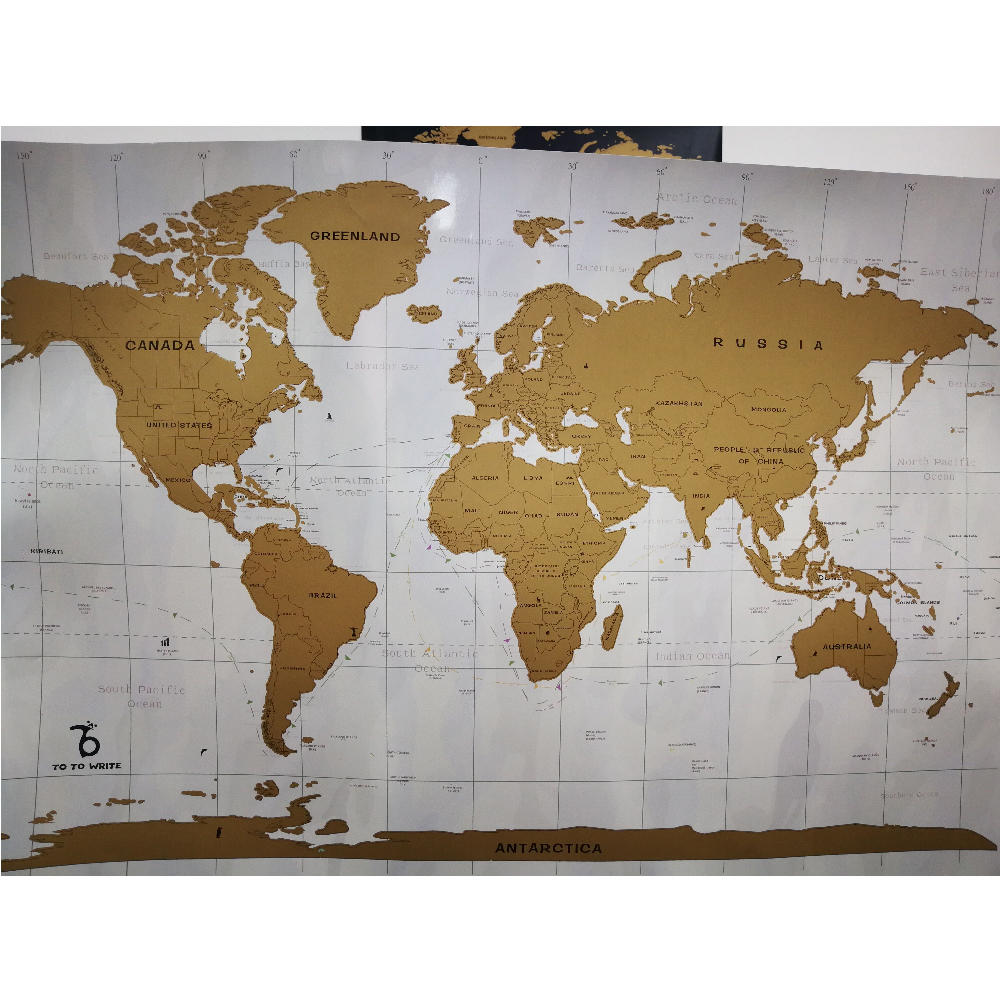 Best Selling Watercolor Elegant Travel Poster Scratch Off Map Of The World