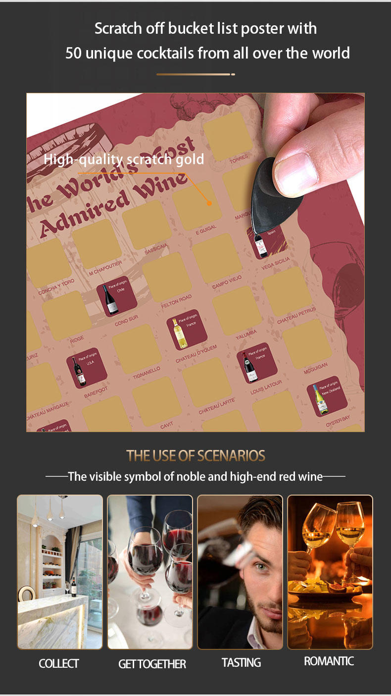 product-Dezheng-The WorldS Most Admired 50 Red Wine Bucket Scratch Off Poster-img-1