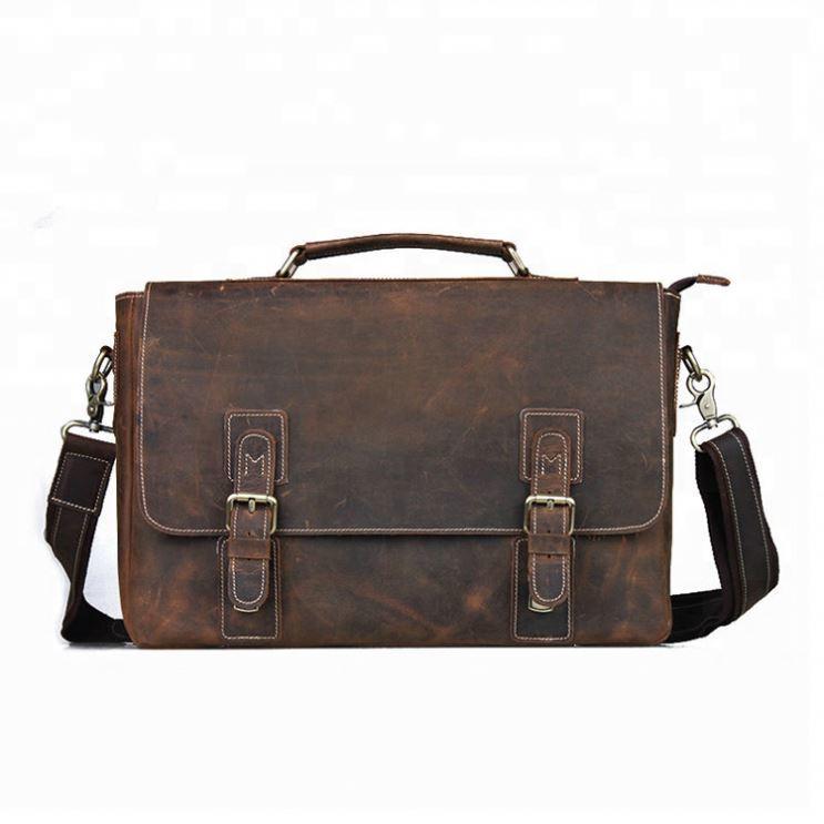 Business laptop bag waterproof vintage mens messenger bag