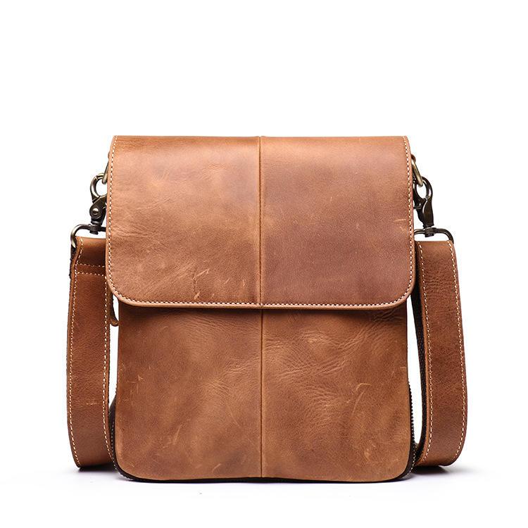 Men's Messenger Bag Leather Fashion Shoulder Bag