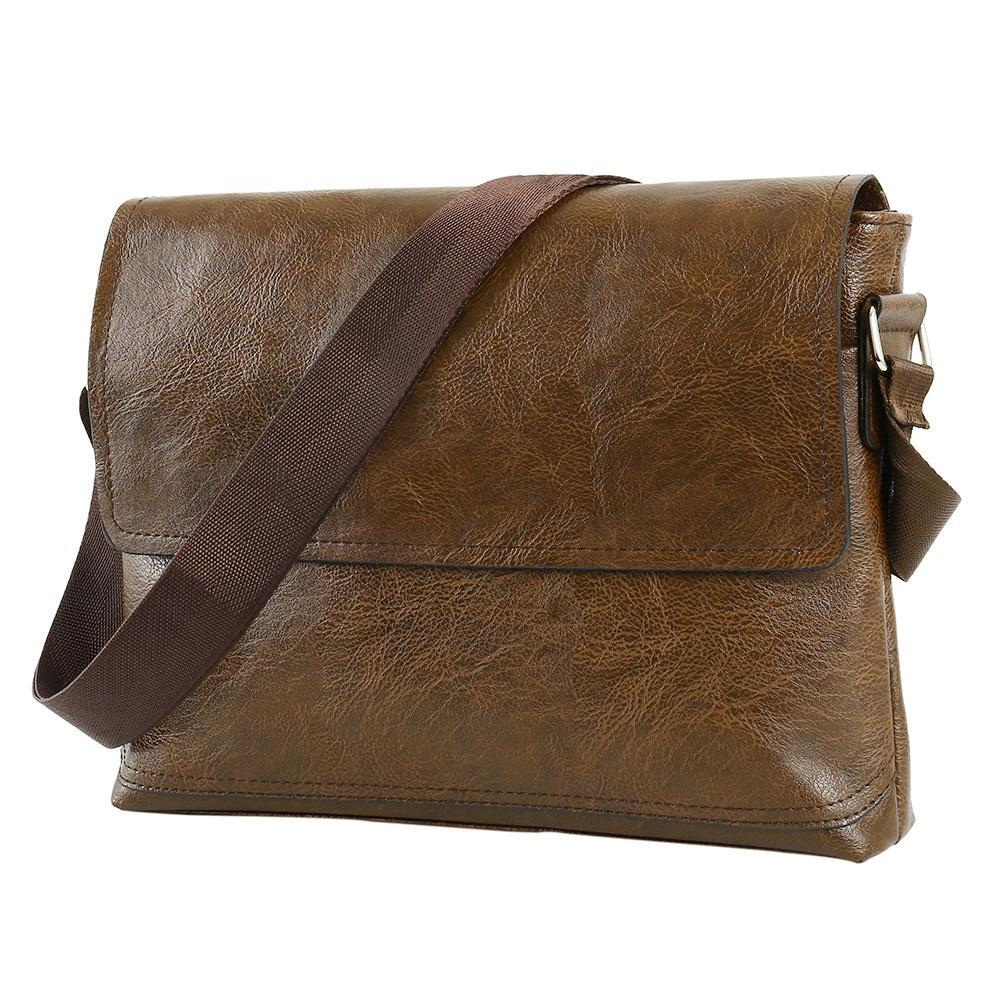 2019 new arrival large business vintage crossbody bag PU leather handbag for men