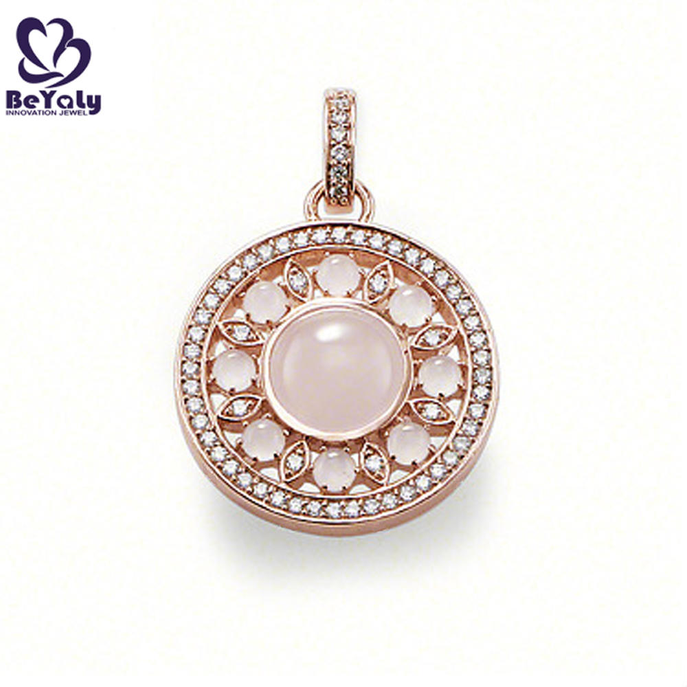 High end pink crystal latest 18k gold plated jewelry