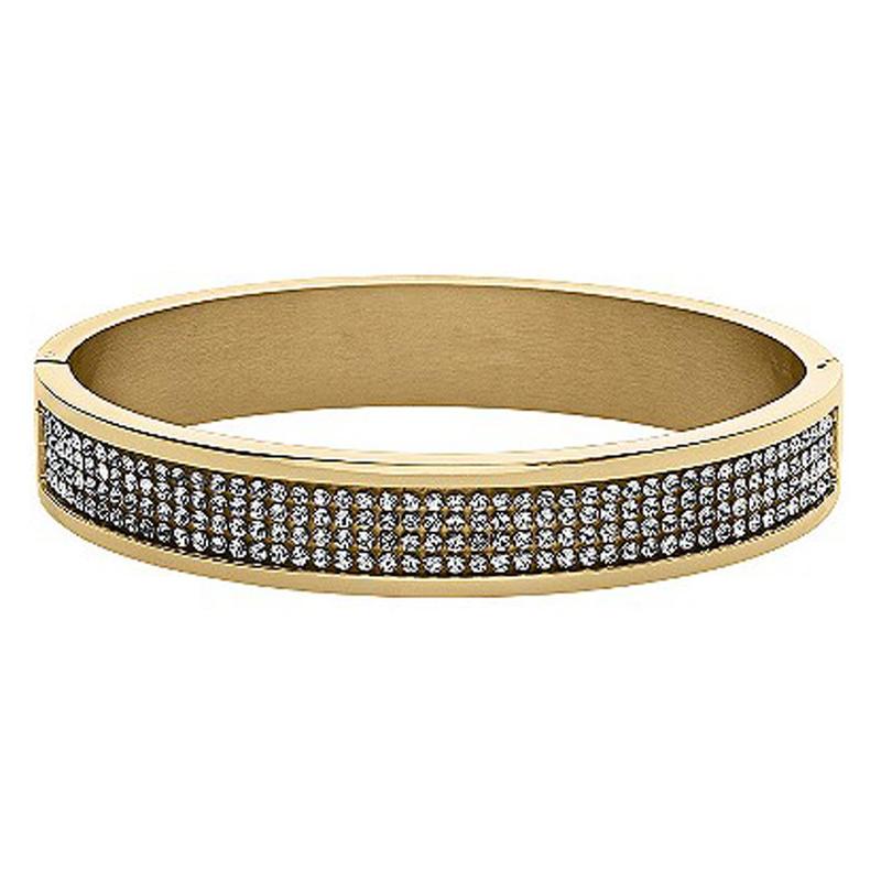 Cz channel setting gold plated tennis bangle bracelets
