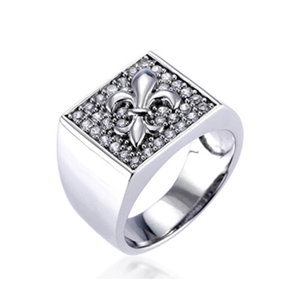 Handmade Gemstone 24K Gold Dubai Wedding Rings Jewelry