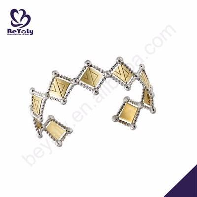 Vogue wedding silver jewelry gold bangle for bridal