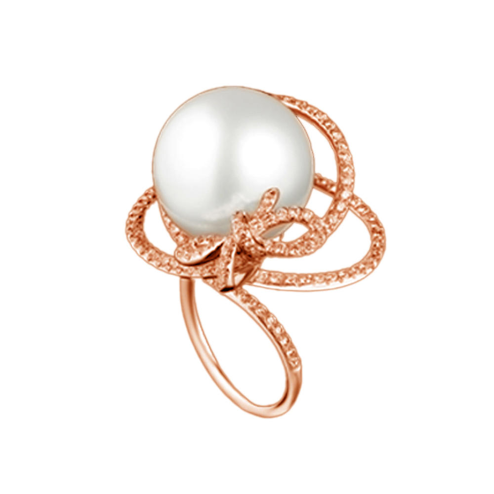Rose Gold Plating Beauty Knot Pearl Silver Second Hand Rings
