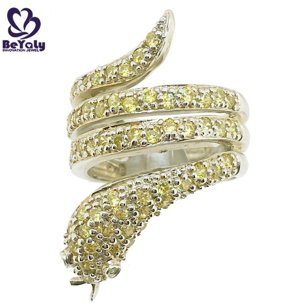 Latest snake shape silver jewelry gold ring designs for girls