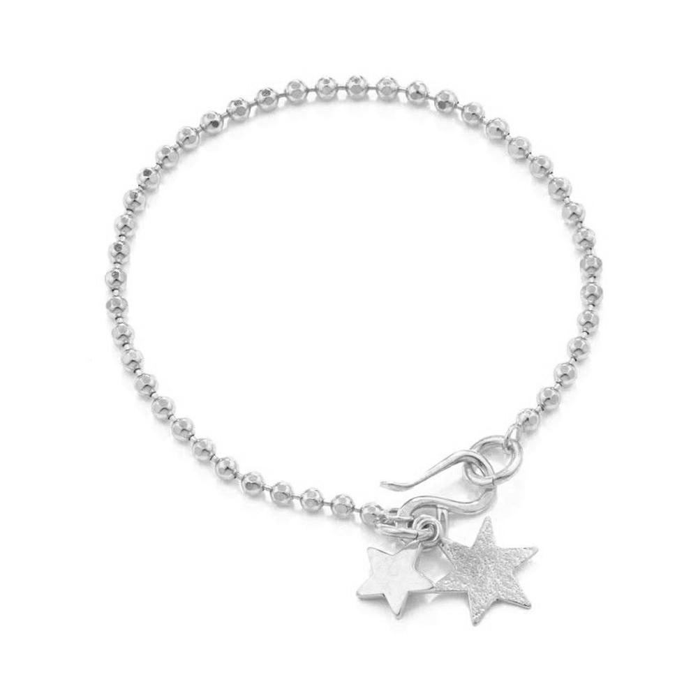 Polished For Female Star Drop Silver Material Gold Nail Bracelet