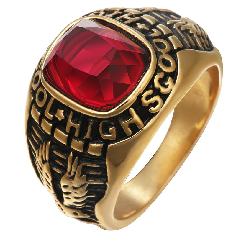 Solid Gold Class Graduation Ring