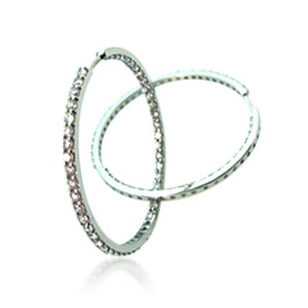 Gorgeous cz hoop ladies wedding earring gold