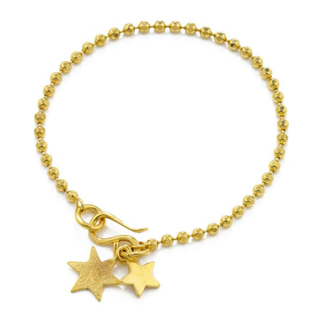 Gold plating star drop jewelry bracelet making supplies