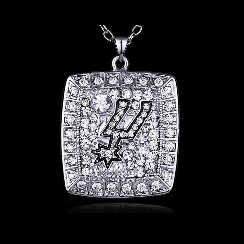 Silver Plated Design Alloy American Football Necklace