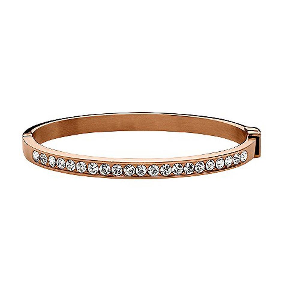 Rose gold shiny 925 silver cz bracelet in bracelets & bangles