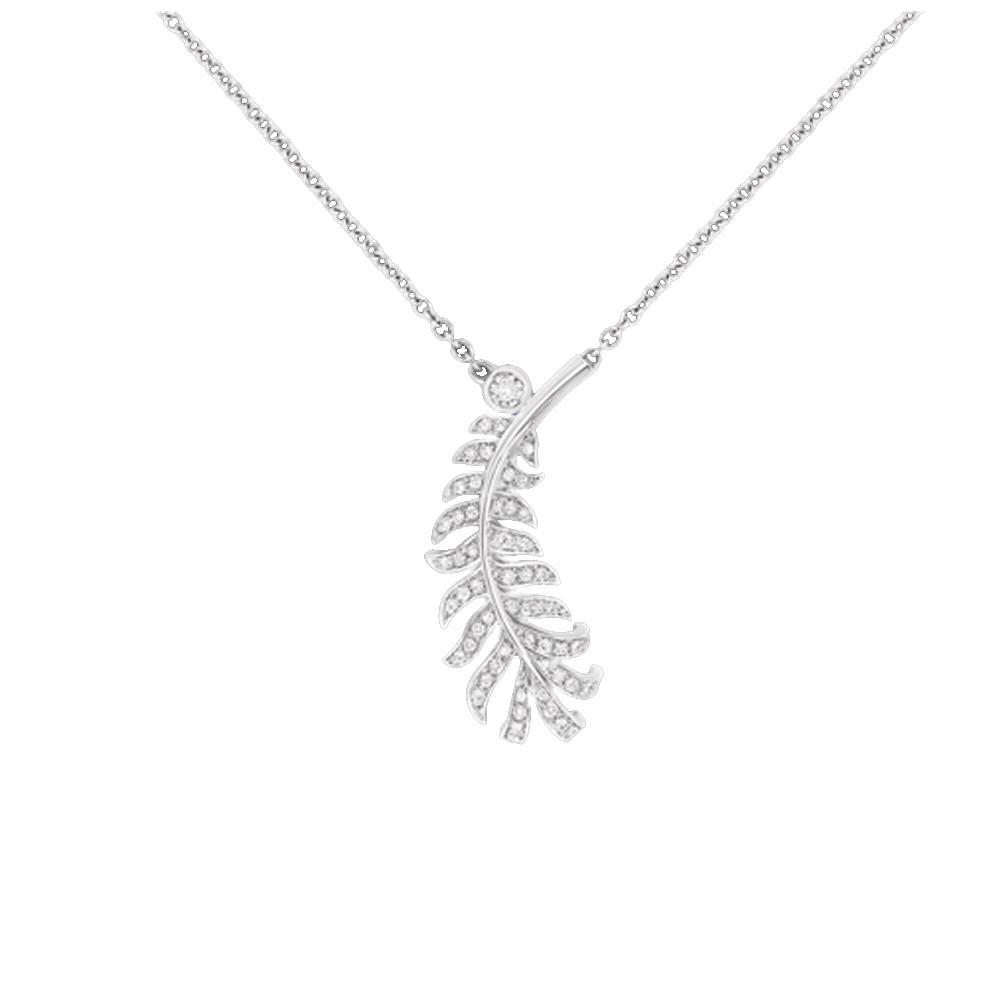 Eco-friendly fern design silver jewelry gold vermeil pendant