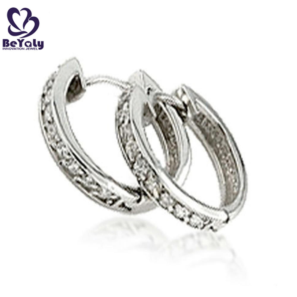 High end gold plated silver hoop earrings women