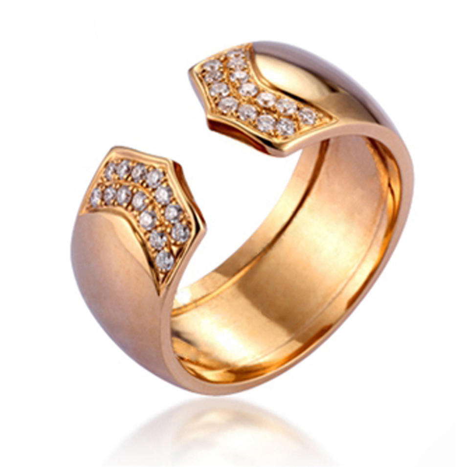 Wholesale Horseshoe Arrow Design Cz Gold Ring Designs For Girl