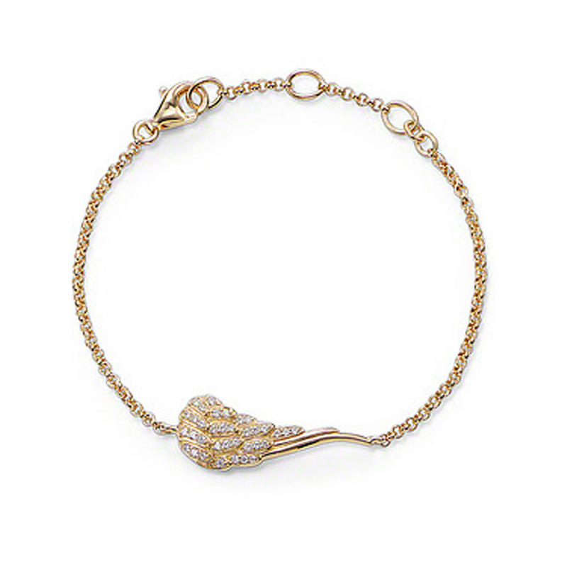 Gold Plated Cz Wing Lucite Crystal Bangle Bracelets