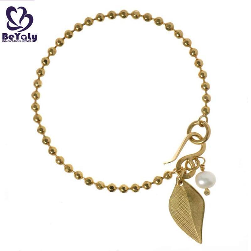 Beauty graceful leaf drop 24k gold bangles dubai jewelry