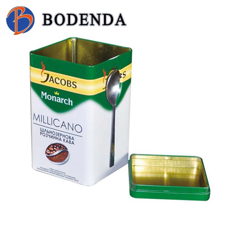 Food Grade rectangular Tin Container Box Metal for Tea / Empty Tea Tin /Coffee Tin Box