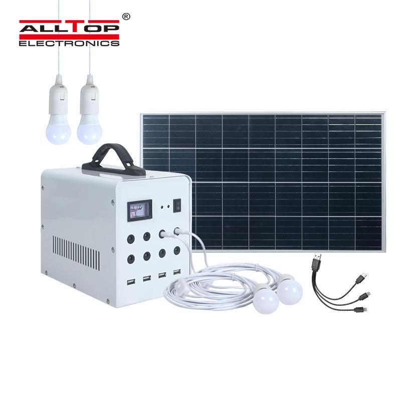 ALLTOP High brightness bulb solar rechargeable outdoor home solar energy system