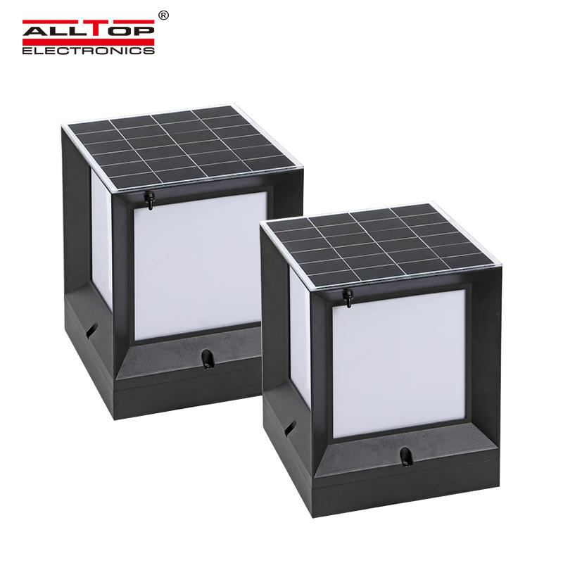 ALLTOP Energy saving double light source garden light outdoor waterproof 10w solar LED garden light price
