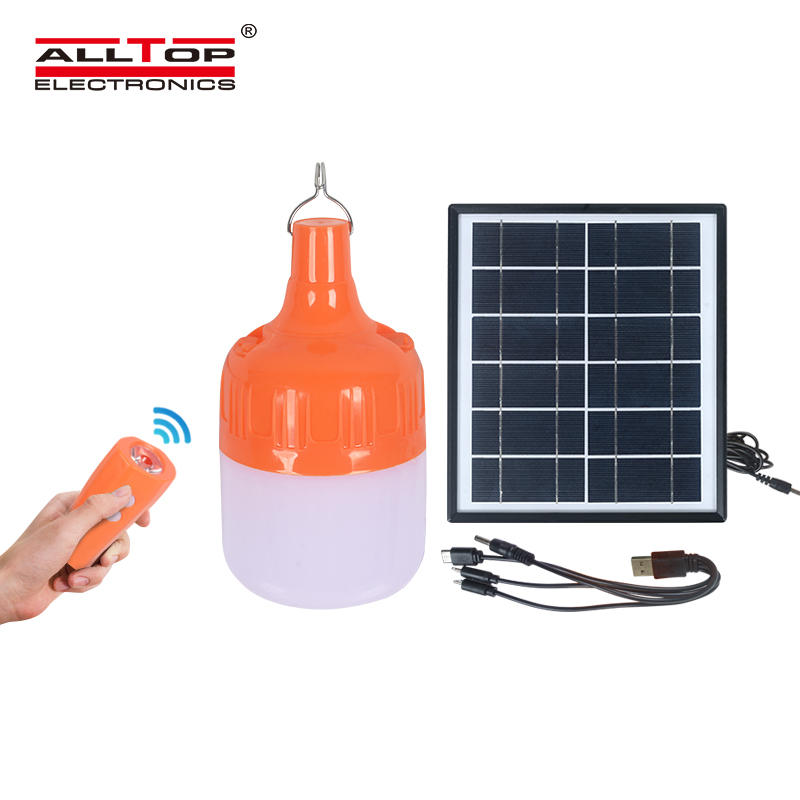 ALLTOP Manufacturers direct sale outdoor long lighting led rechargeable bulbs camping solar emergency lamp