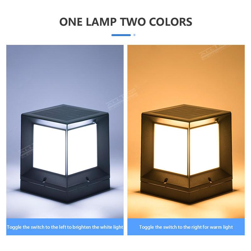 ALLTOP Energy saving double light source garden light outdoor waterproof 10w solar LED garden light price