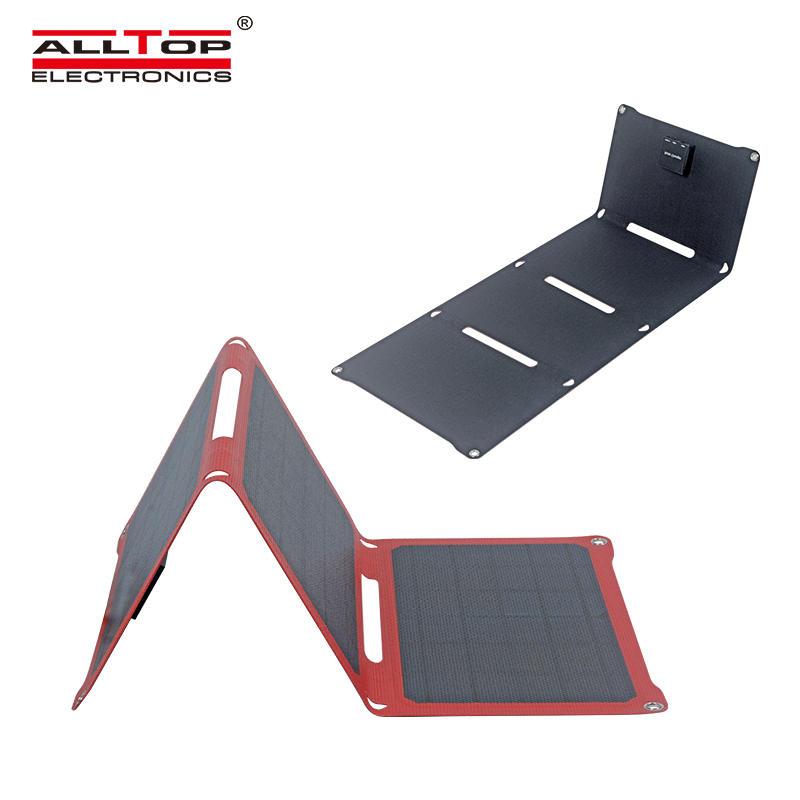 ALLTOP Wholesale high quality portable waterproof 28w folding solar panel