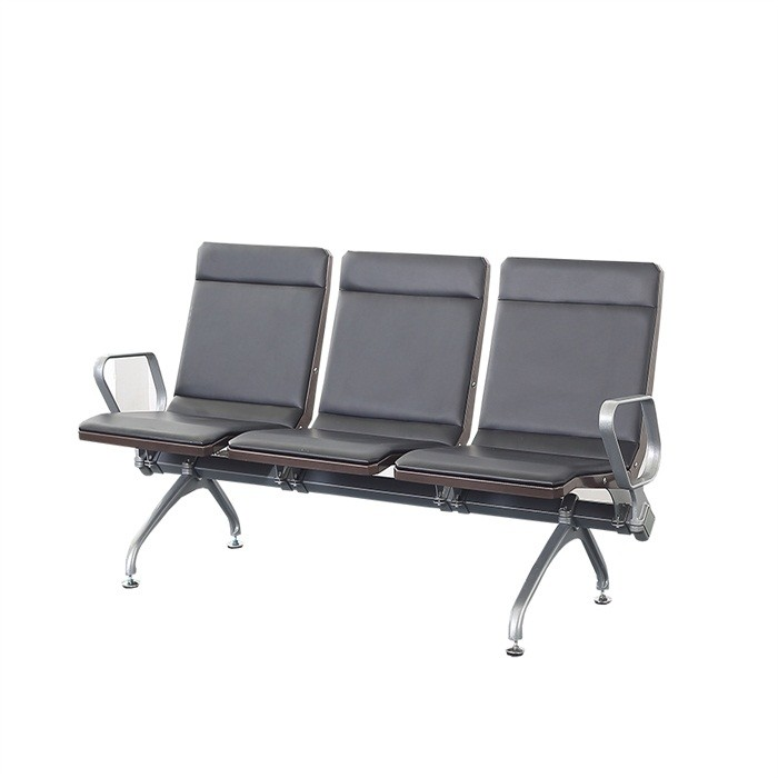hot sale high back airport chair PU waiting sofa no folded new design public waiting bench hospital waiting chair
