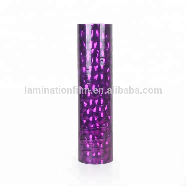 Self Adhesive Holographic Film,Transparent Holographic Thermal Laminating Film with EVA Hot Glue for Paper Laminating