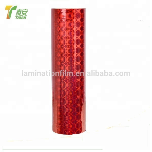 Chinese FilmBopp Holographic Film / Clear Transparent Self Adhesive Transparent Holographic Film