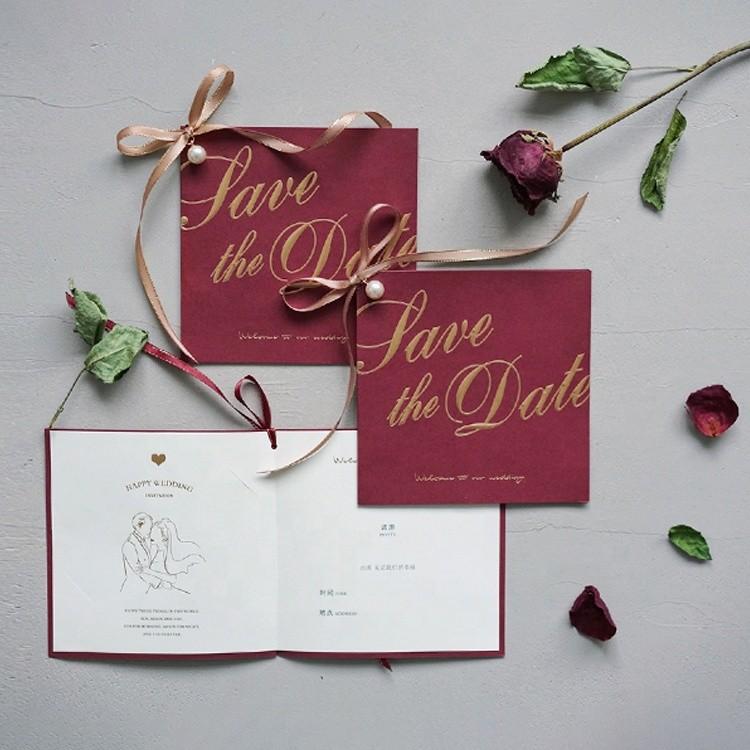 2020 Elegant Design Nordic Style Wedding Invitations Sets Luxury Wedding Decoration