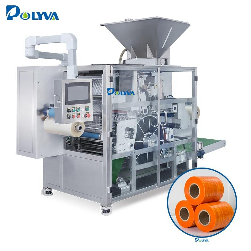 Polyva machine 4 in 1 laundry pods detergent liquid soap filling packing machine vacuum packaging machine