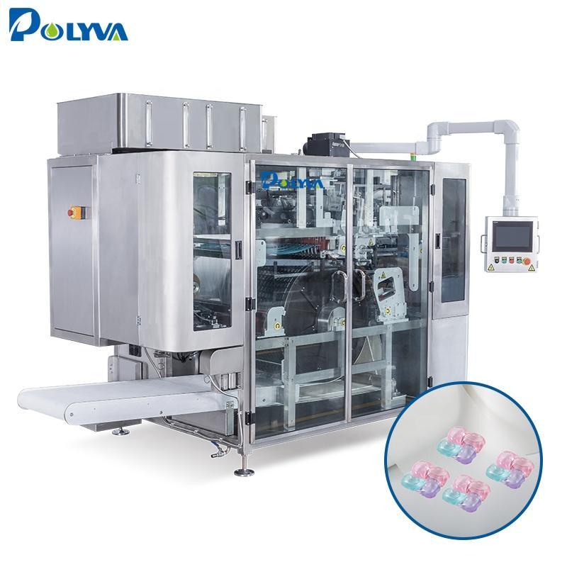 Polyva machine 3 in 1 detergent liquid pod capsule loading packing machine filling capsule machine