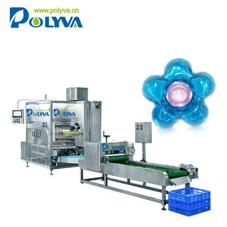 Polyva machine washing capsules horizontal packaging filler detergent powder packing machine