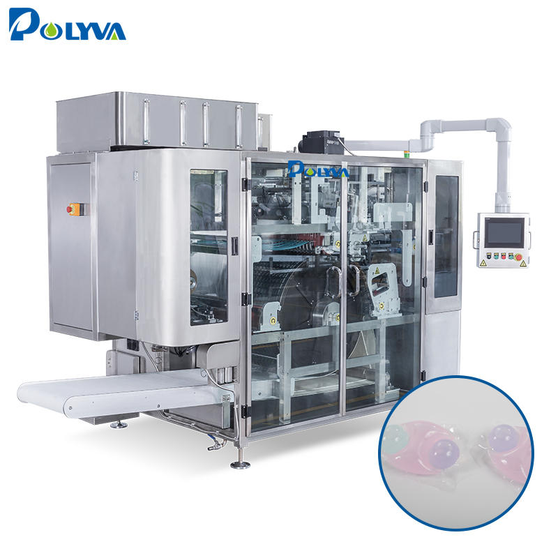 Polyva water soluble film packaging filling machine laundry detergent washing powder packing machine