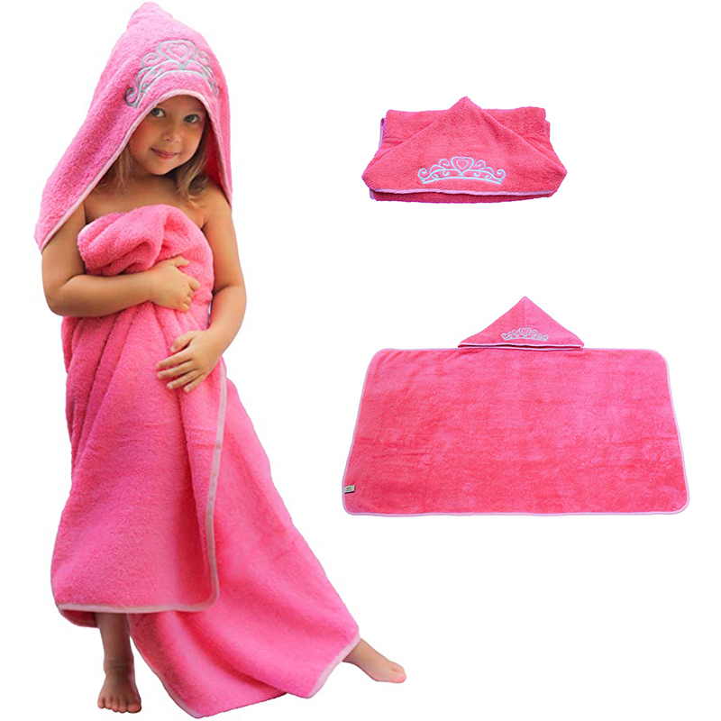 100% cotton baby hooded towelembroidered to be a princess