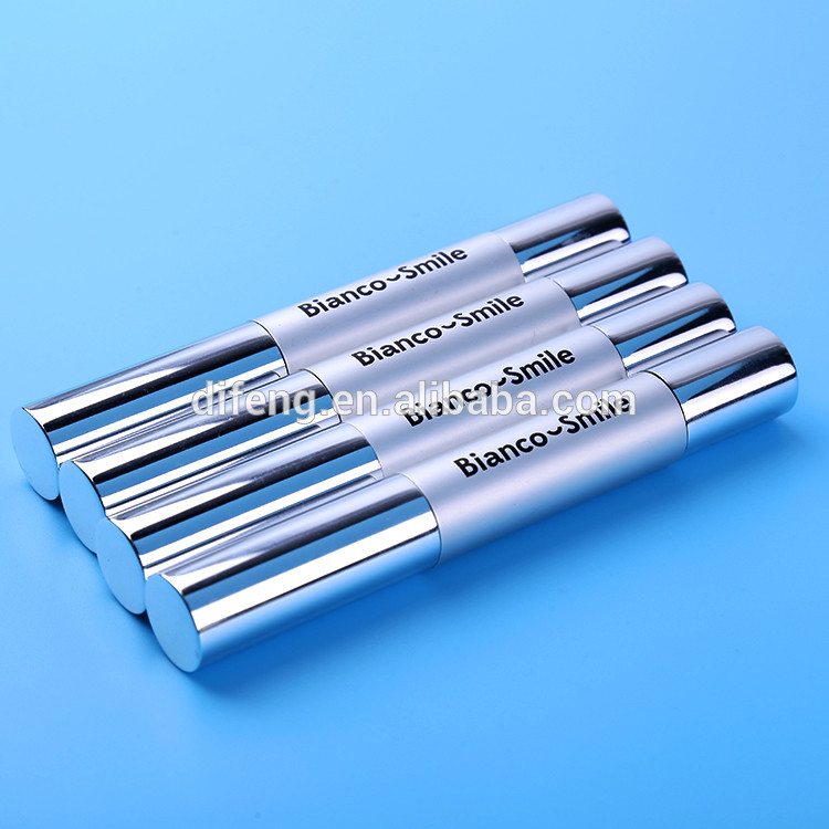 proved 4ml, 4g silver teeth whitening pen with logo