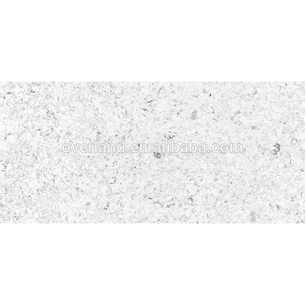 White shiny stone quartz countertop