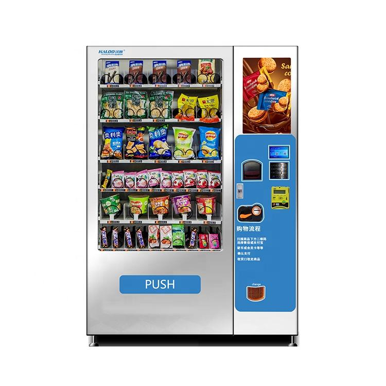 Custom new design combo drinks snack vending machine with logo