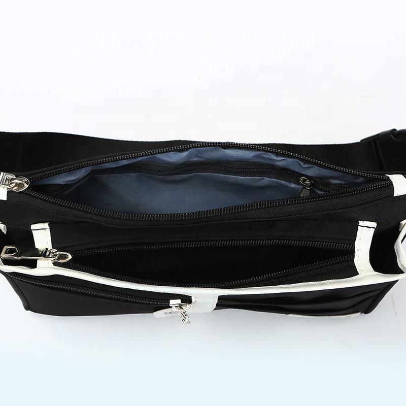 wholesale new design brand causal unisex custom PU running waist belt bag for man women sports fashion with zipper waist pack