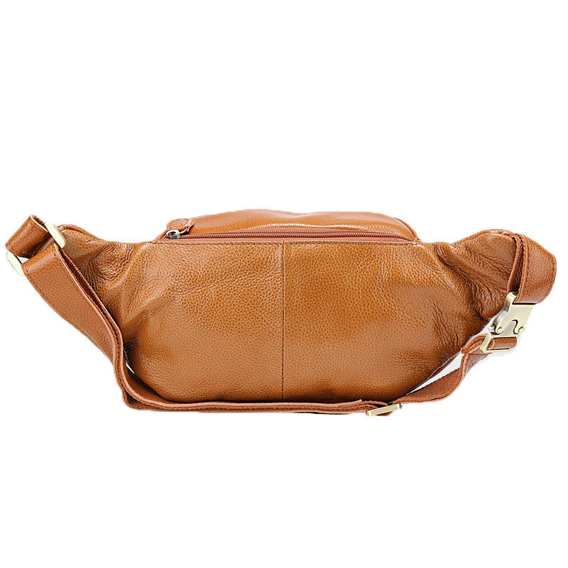 High Quality New arrival latest waterproof Large Pu Leather Waist Bag Men Travel Fanny PacksMale Belt Men's Phone Pouch Bag