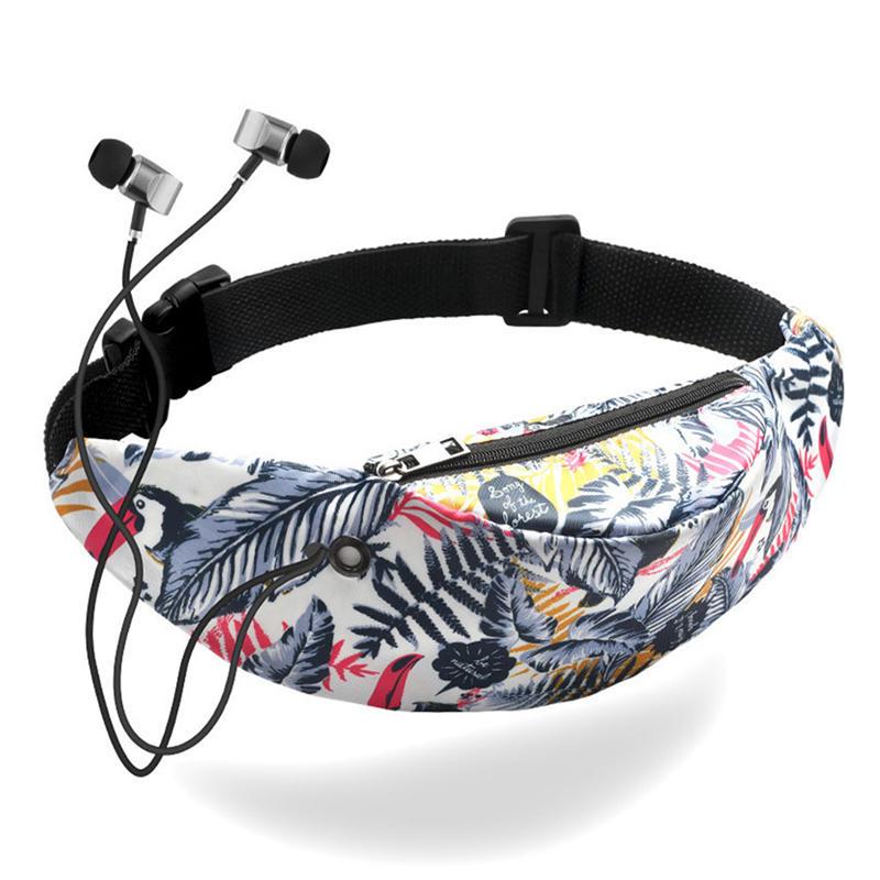 fashion printing design waist belt bag for woman outdoor sport shopping ladies running bum bags leisure travel girls waist pack