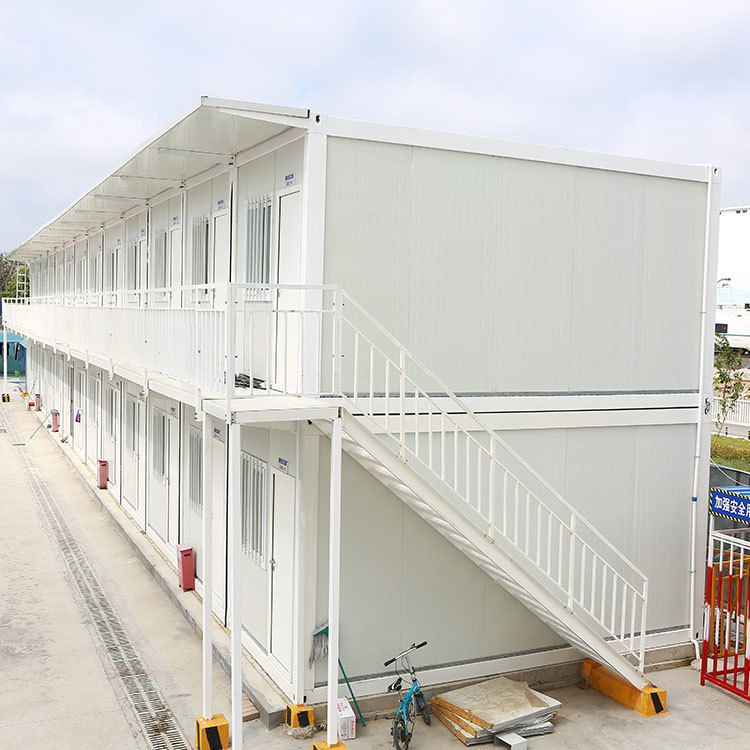 Prefabricated housebased onconstruction site and temporary residence