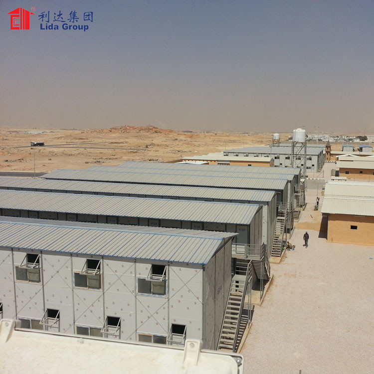 Prefabricated house price in algeria, labour house, steel structure accommodation