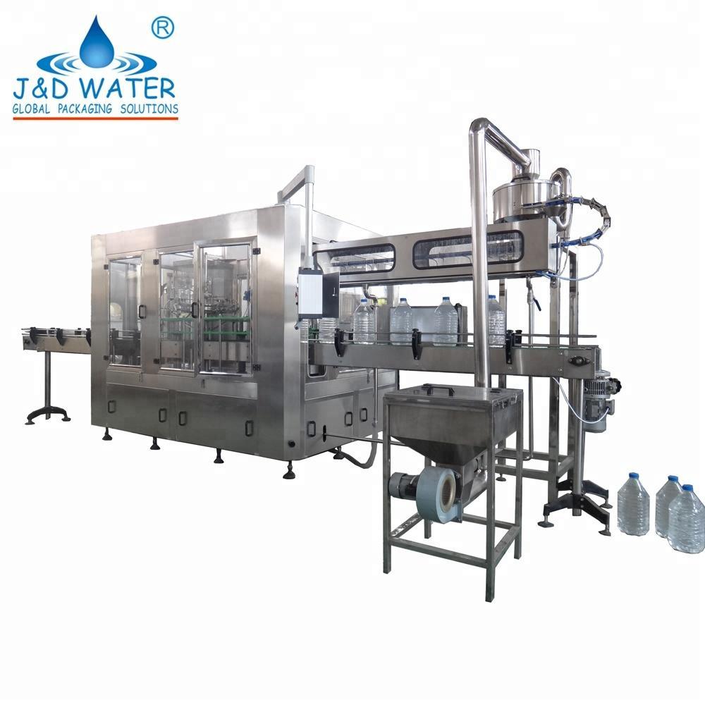 Model JND 9-9-4 50HZ / 60HZ automatic plastic bottles mineral water filling machine