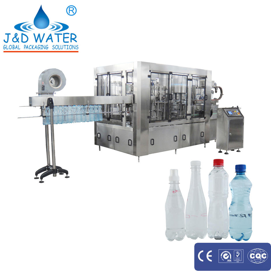 Factory price mineral pure water washing hot filling capping machine with 11.18KW